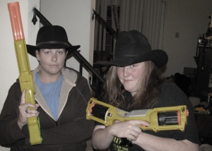 Fun with hats and Nerf guns...