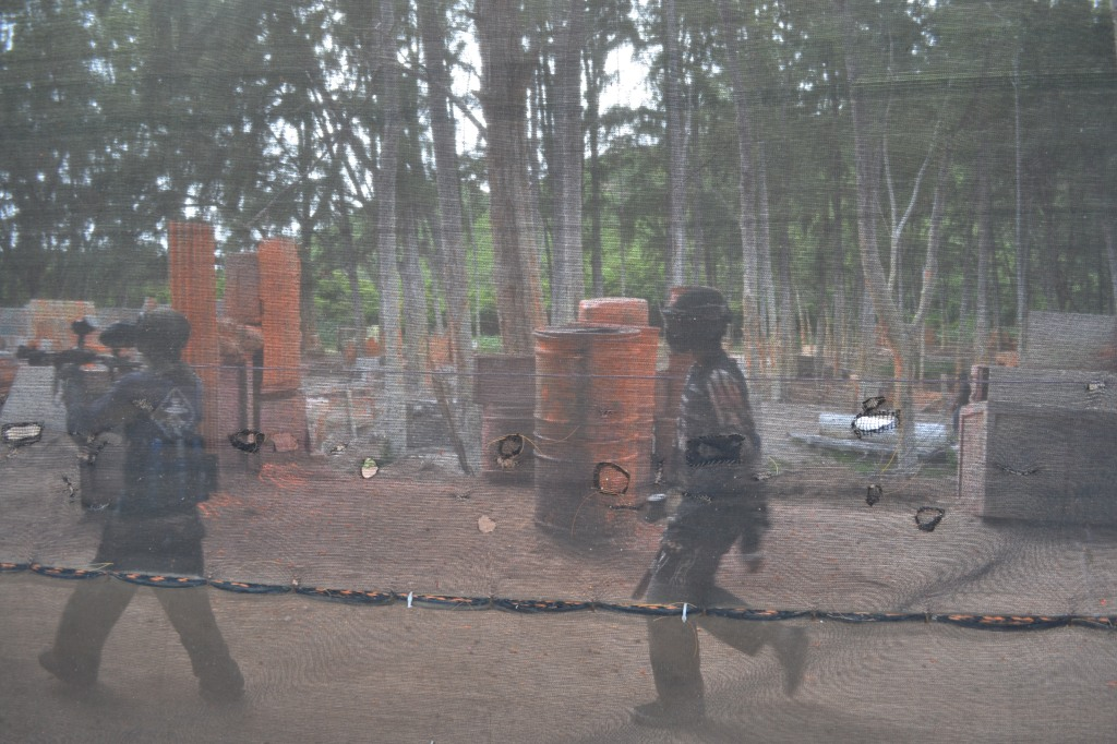 Paintball through the netting