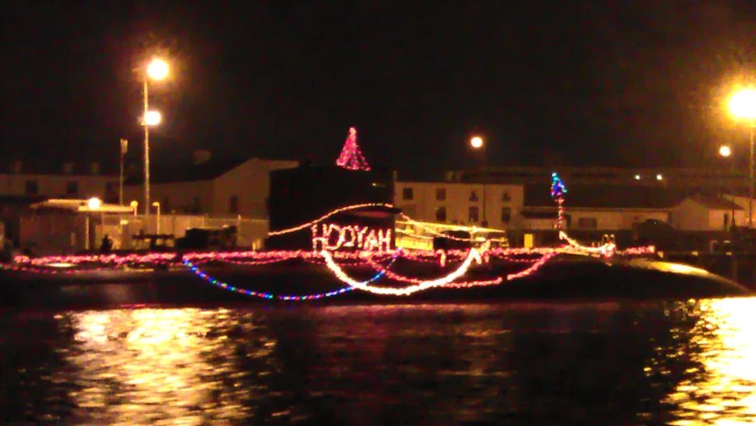 decorated submarine
