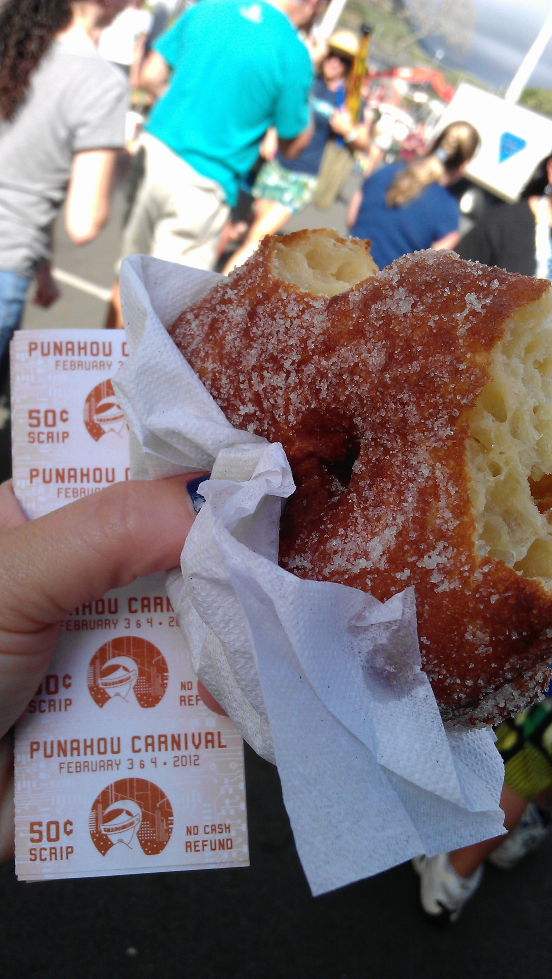 Punahou Carnival -- scrip and malasada