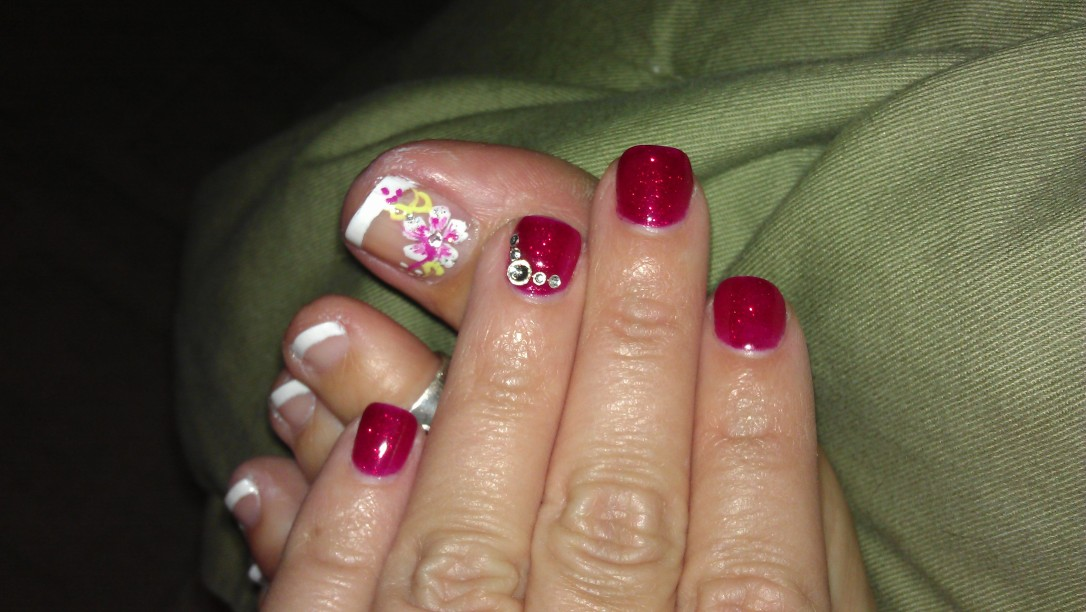 2/11/2012 mani/pedi for homecoming and Valentine's