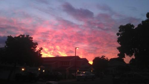2/24/2012 fiery sunrise