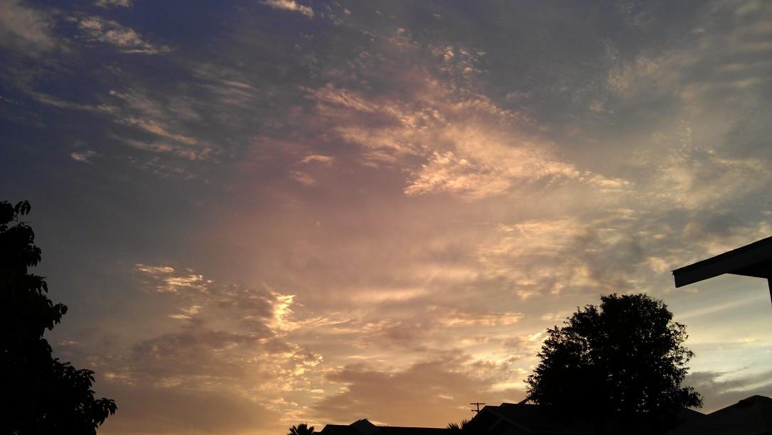 4/7/2012 glowing golden sunset
