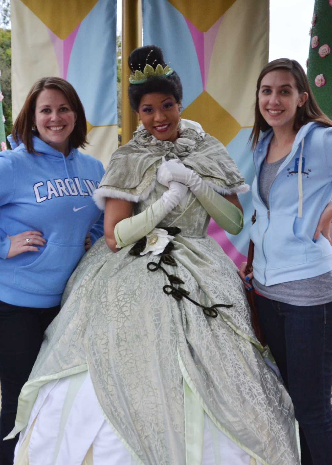 with Princess Tiana