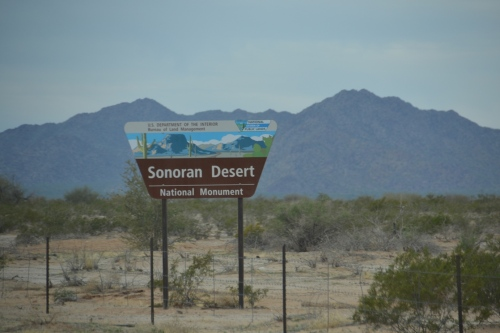 Arizona, Sonoran Desert sign