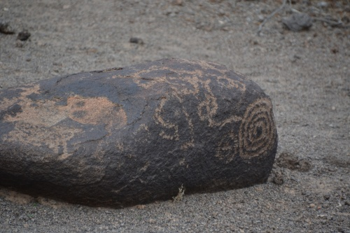 Arizona painted rock petroglyphs, single