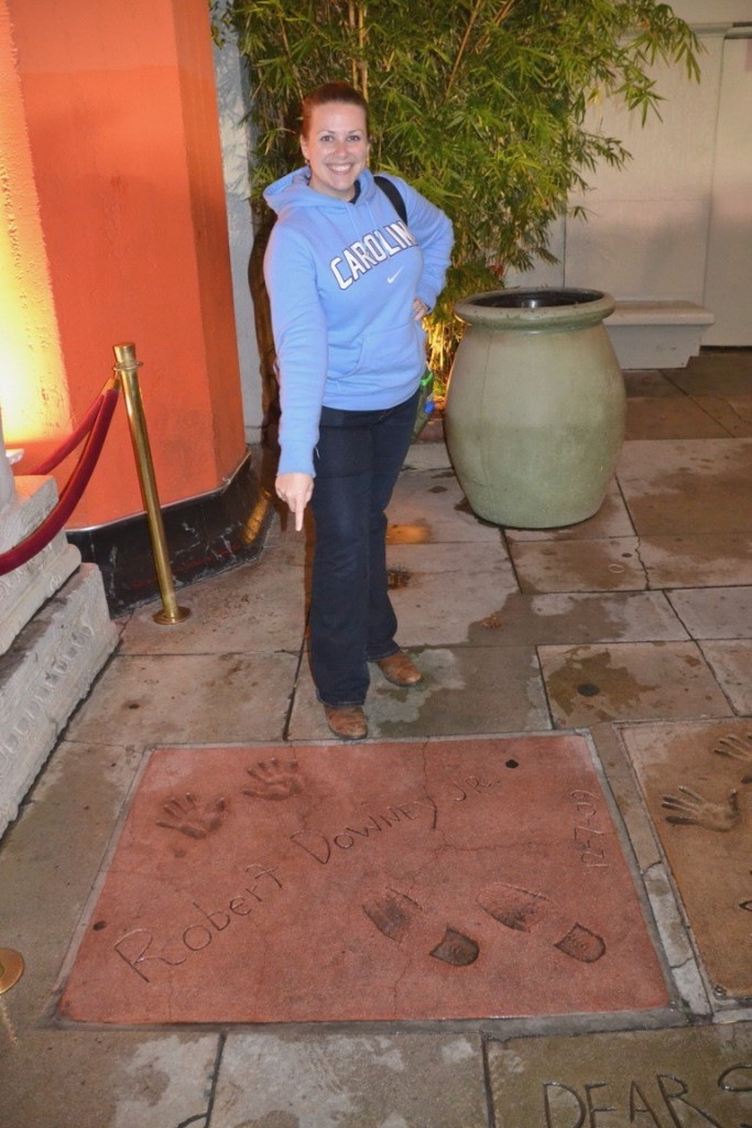 LA handprints at Grauman's