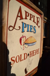 Julian apple pie sign