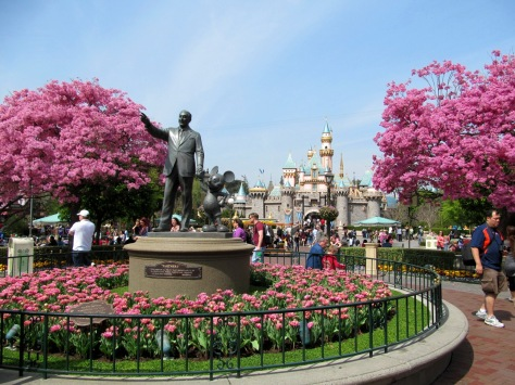 Disneyland castle in spring