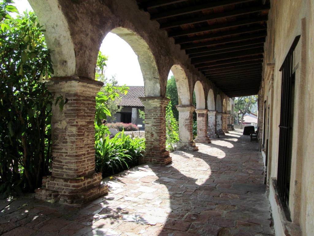 San Juan Capistrano hallway arches
