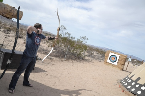 Joshua Tree camping archery