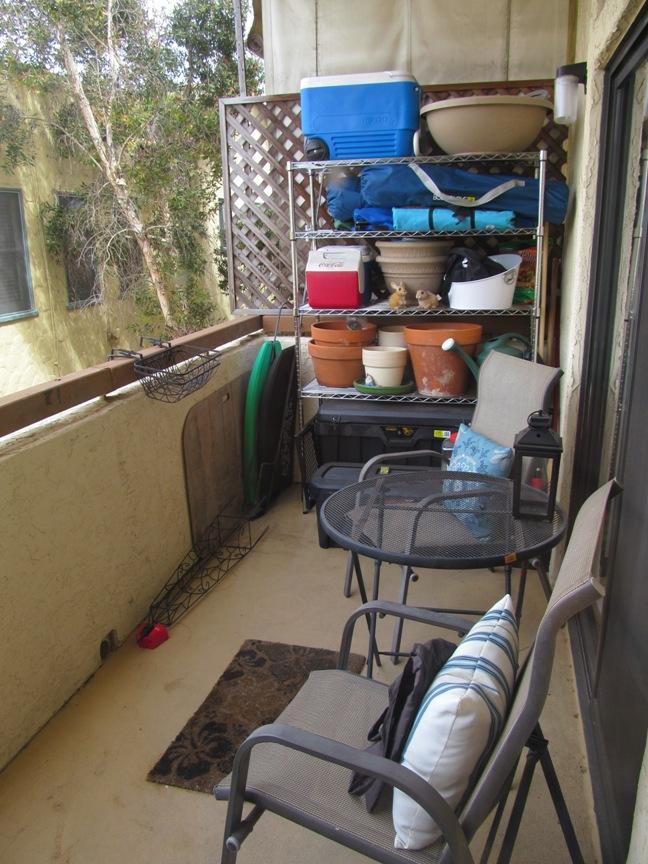 San Diego condo, porch