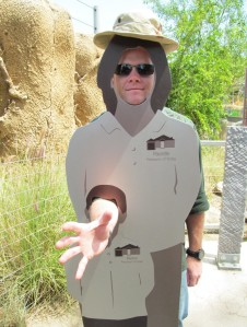Zoo J in a keeper cut-out