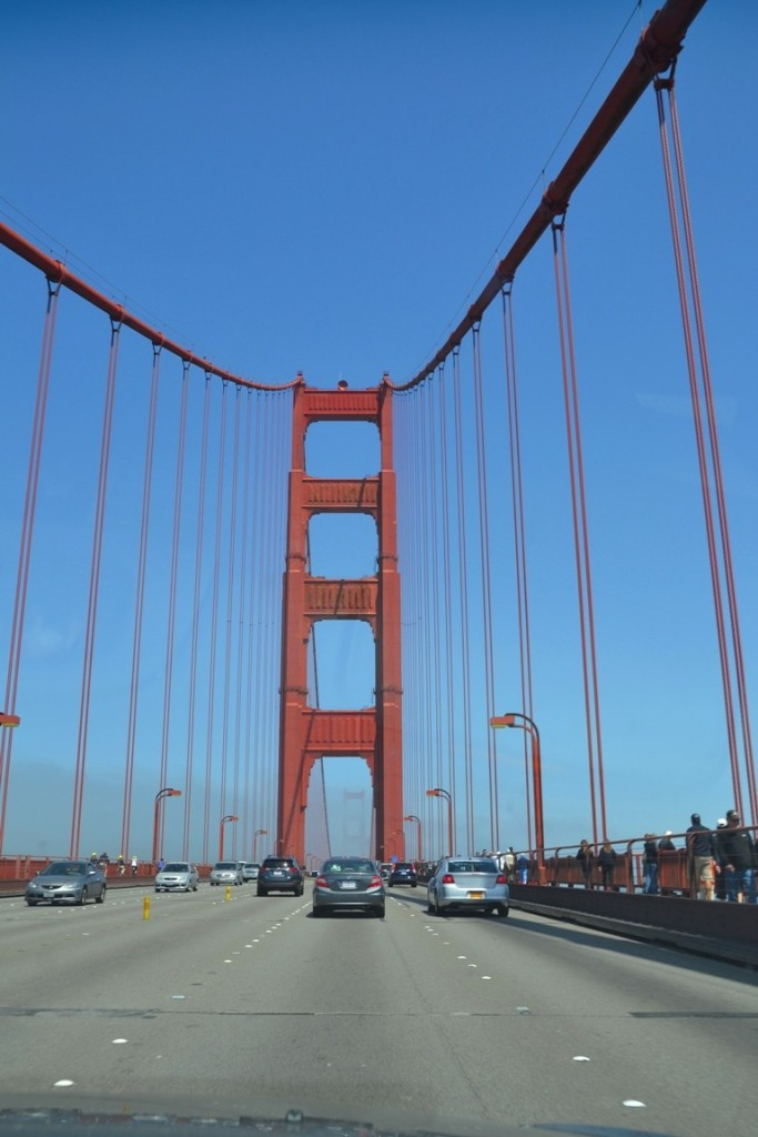 San Francisco Golden Gate bridge crossing