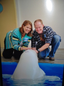 SeaWorld beluga kisses