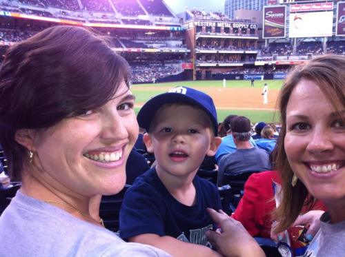 At the Padres game