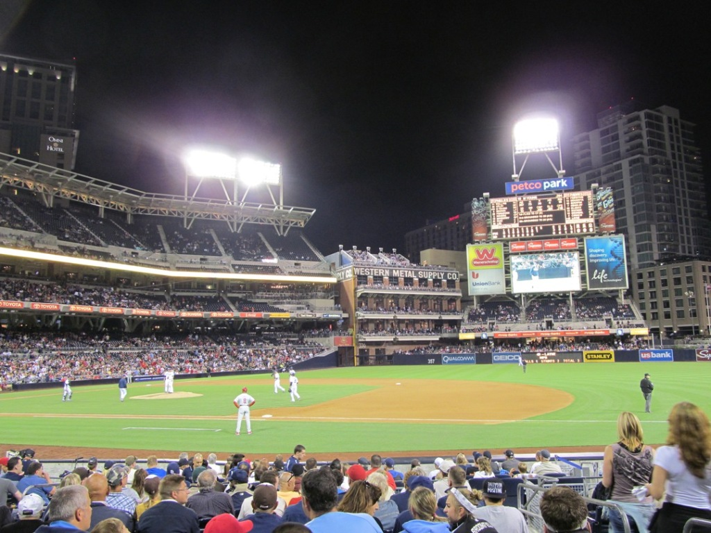 Padres game, stadium view