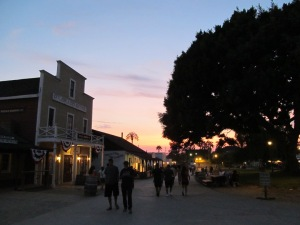 Old Town, sunset
