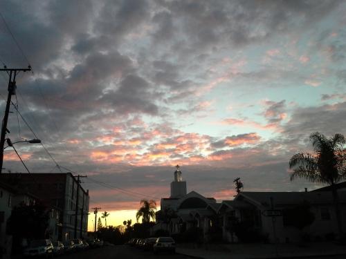 August sunset, church 1