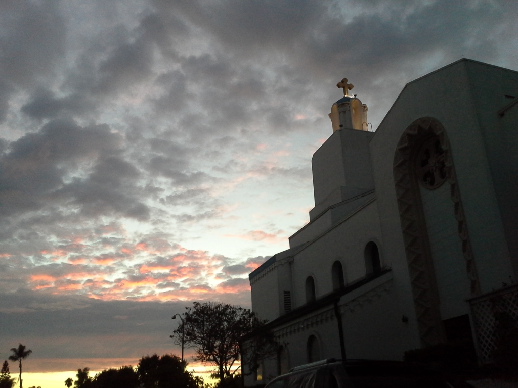 August sunset, church 2