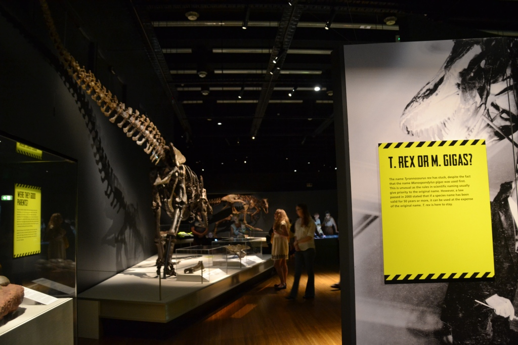 Australia, Sydney natural history dinosaur exhibit
