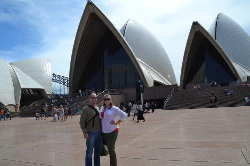 Australia, Sydney Opera House from land