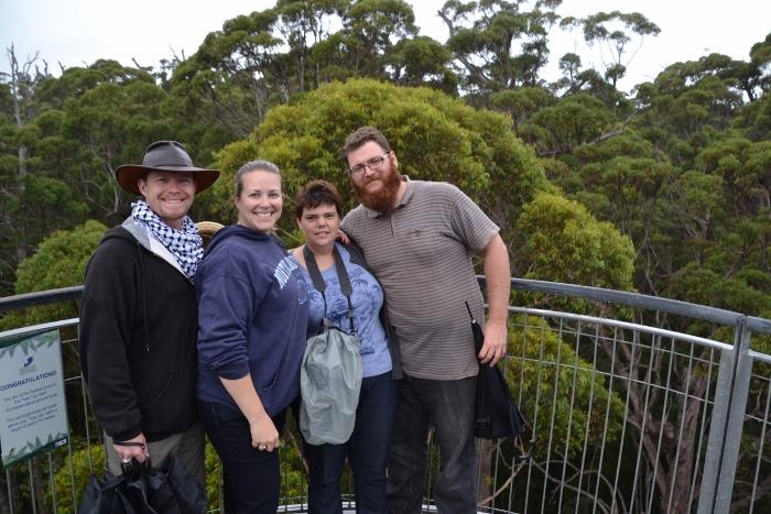 Australia, tree top walk group