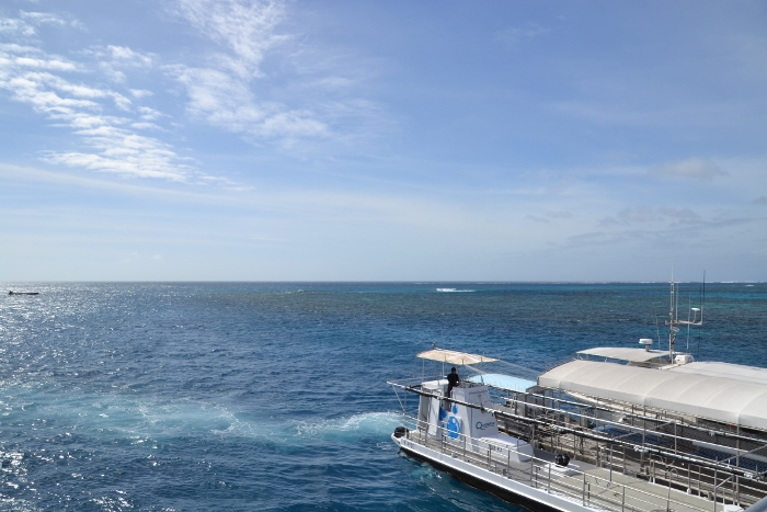 Australia, Port Douglas, reef diving platform