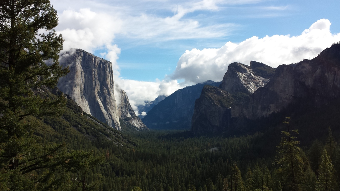 Tunnel View after storm
