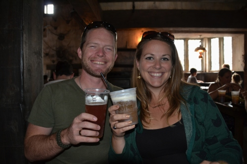 Three Broomsticks butterbeer cheers