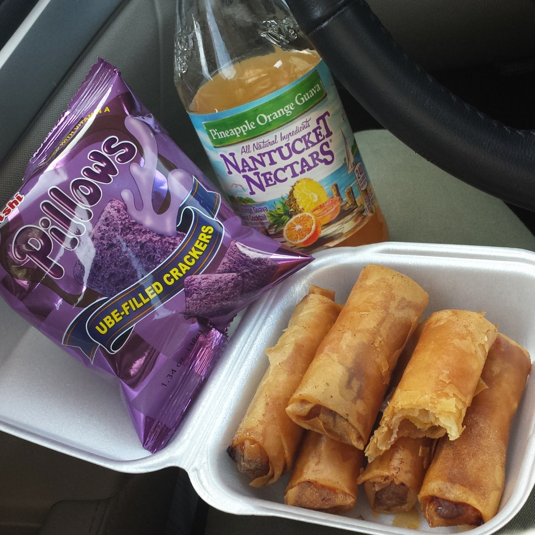 banana lumpia and oishi pillows