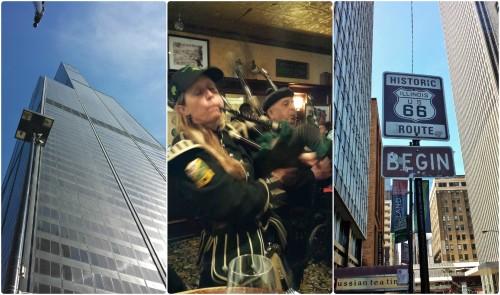 Chicago St Patricks Day views